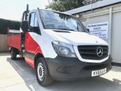 PP Van Sales - Used Vans Yorkshire - HEAVY DUTY Mercedes-Benz Sprinter 313 CDI LWB Dropside Pickup & Tail Lift