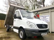 PP Van Sales - Used Vans Yorkshire - Mercedes Sprinter 316 12ft Dropside Tipper