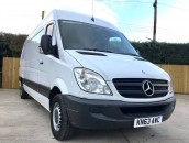 PP Van Sales - Used Vans Yorkshire - UPGRADED Mercedes-Benz Sprinter 313 LWB